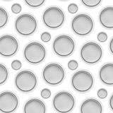 Vector fabric circles abstract seamless pattern Royalty Free Stock Photography