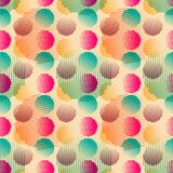 Vector fabric circles abstract seamless pattern Stock Photos