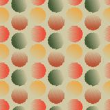 Vector fabric circles abstract seamless pattern Stock Photo