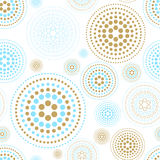 Vector fabric circles abstract seamless pattern background  with hand drawn elements. Art Stock Photo