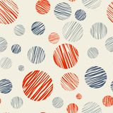 Vector fabric circles abstract seamless pattern royalty free illustration