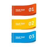 Vector fabric clothing labels option banner Stock Image