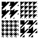 Vector Fabric Patterns. Seamless, repeating dogtooth and houndstooth vector patterns in black and white Stock Image