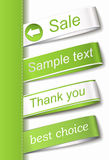 Vector Fabric Tag Label Royalty Free Stock Image