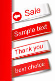 Vector Fabric Tag Label vector illustration