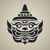 Vector face of giant thailand, Vintage traditional Thai style Royalty Free Stock Photography