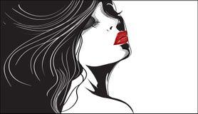 Vector face of girl stock illustration