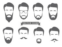 Vector Face Icons Royalty Free Stock Images