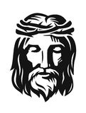 Vector Face of Jesus Stock Image