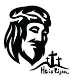 Vector Face of Jesus Royalty Free Stock Photos