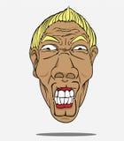 Vector Face man Stock Image