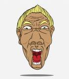 Vector Face man Royalty Free Stock Image