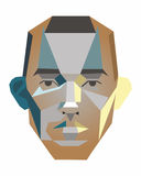Vector face of a man. Of geometric shapes Stock Image