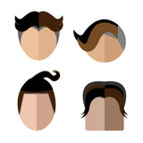Vector-face woman hairstyles .thai style Royalty Free Stock Images