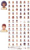 Vector faces icon set Stock Images