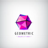Vector faceted origami logo Stock Photo