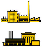 Vector factories Royalty Free Stock Photography