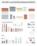 Vector factory elements Stock Photos