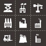 Vector factory icons set Stock Photos