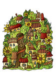 Vector fairy-tale town Stock Images