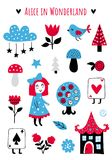 Vector fairytale elements vector illustration