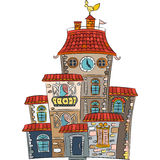 Vector fairytale multicolored house Royalty Free Stock Images