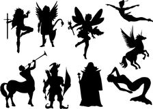 Vector fairytale silhouettes Royalty Free Stock Photography