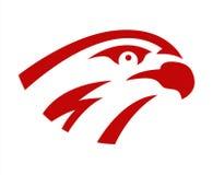 Vector falcon or hawk head sport game play team logo mascot design. American wild eagle abstract beak symbol sign. Concept vector illustration