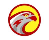 Vector falcon or hawk head sport game play team logo mascot design. American wild eagle abstract bird beak symbol sign. Concept stock illustration