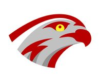 Vector falcon or hawk head sport game play team logo mascot design. American wild eagle abstract bird beak symbol sign. Concept vector illustration