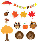 Vector Fall Animals Royalty Free Stock Image