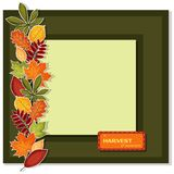 Vector fall frame with text Royalty Free Stock Image