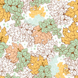 Vector Fall Grapes Harvest Seamless Pattern. Wine Stock Images