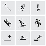 Vector fall icon set. On grey background Royalty Free Stock Photography