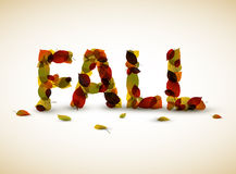 Vector fall lettering illustration Stock Image