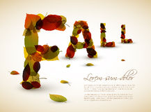 Vector fall lettering illustration Royalty Free Stock Image