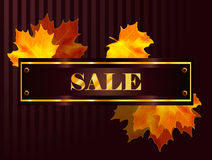 Vector fall sale poster Royalty Free Stock Image