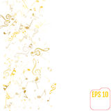 Vector Falling Notes Background. Stock Photo