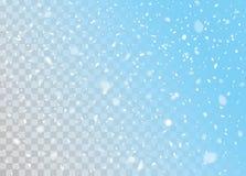 Vector falling snow Stock Photo