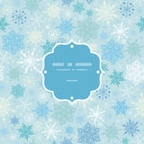 Vector falling snow frame seamless pattern Stock Photo