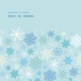 Vector falling snow horizontal frame seamless Royalty Free Stock Photography