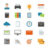 Vector falt business icon for web and application design Stock Photography