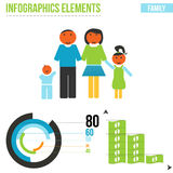 Vector family elements for infographics Royalty Free Stock Photography