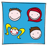 Vector Family Icon Stock Images
