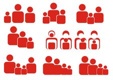 Vector family icons Stock Images