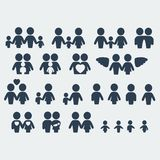 Vector family icons set Stock Image