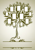 Vector family tree design with frames Royalty Free Stock Image
