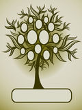 Vector family tree design with frames. And autumn leafs. Place for text vector illustration