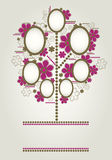 Vector family tree design with frames Royalty Free Stock Photography