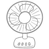 Vector of fan. Hand drawn cartoon, doodle illustration stock illustration